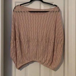 Pink lace off the shoulder shirt